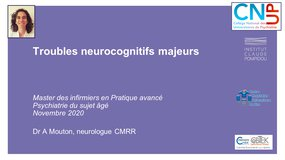 PPA - Clinique - Troubles neurocognitifs majeurs