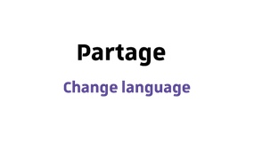 Partage - change language from french to english