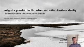 6th Mytheme Webinar: A Digital Approach to the Discursive Construction of National Identity: the Example of the Sámi Council's Declarations