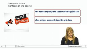 Class action: Presentation of the course