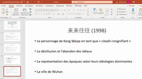 Exposé sur l'article de Gong Haomin : Constructing a Neorealist Reality : Petty Urbanites, Mundaneness and Chi Li's Fiction