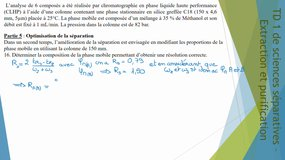 TD 1 sciences séparatives