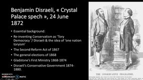 Disraeli - Crystal Palace speech - 1872