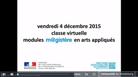 Enregistrement Classe Virtuelle 04/12/2015