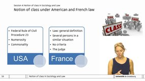 Class action - Session 4: Notion of class in sociology and law